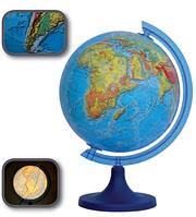 Глобус 3D с подсветкой 250 мм физический (рус.) BST 540090