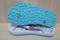 Пляжная летняя обувь, детские вьетнамки для девочки р.32 салатовые
