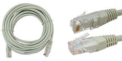 Сетевой кабель, патчкорд шт.8Р8С- 8Р8С, UTP 4пары кат-5Е, серый, 10метров