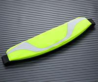 Спортивная сумка на пояс для телефона со светоотражателями Салатовый, фото 1