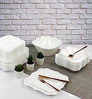 Столовый сервиз 19 пр. Luminarc Authentic White (Франция), набор белых тарелок Люминарк, белый сервиз Люминарк