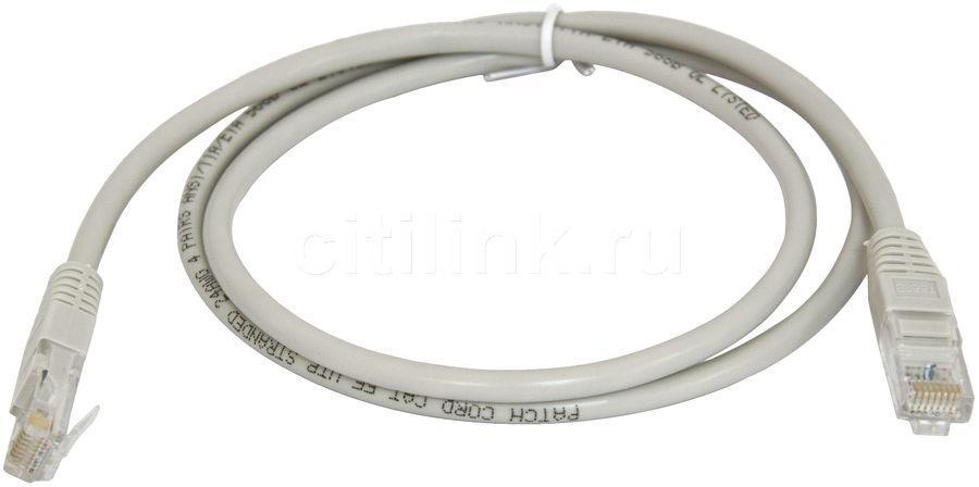 Сетевой кабель, патчкорд шт.8Р8С- 8Р8С, UTP 4пары кат-5Е, серый, 1метр
