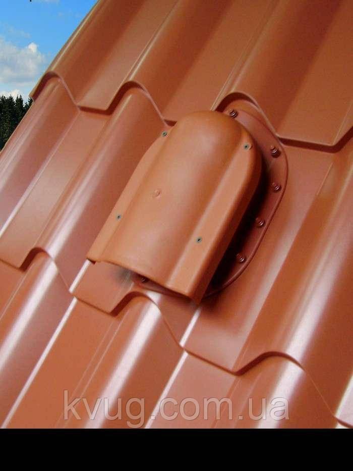 Аэратор Kronoplast WPBN для металлочерепицы профиля Монтерей коричневый