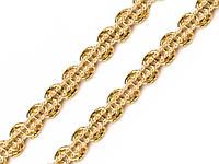 Тесьма ажурная золотистая 7 мм, фото 1