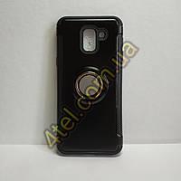 Чехол для Samsung Galaxy J4 (2018), бампер с магнитной пластиной, черный