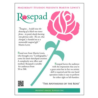 Реквізит для фокусів | The Rose Pad (Complete Kit) by Martin Lewis, фото 2