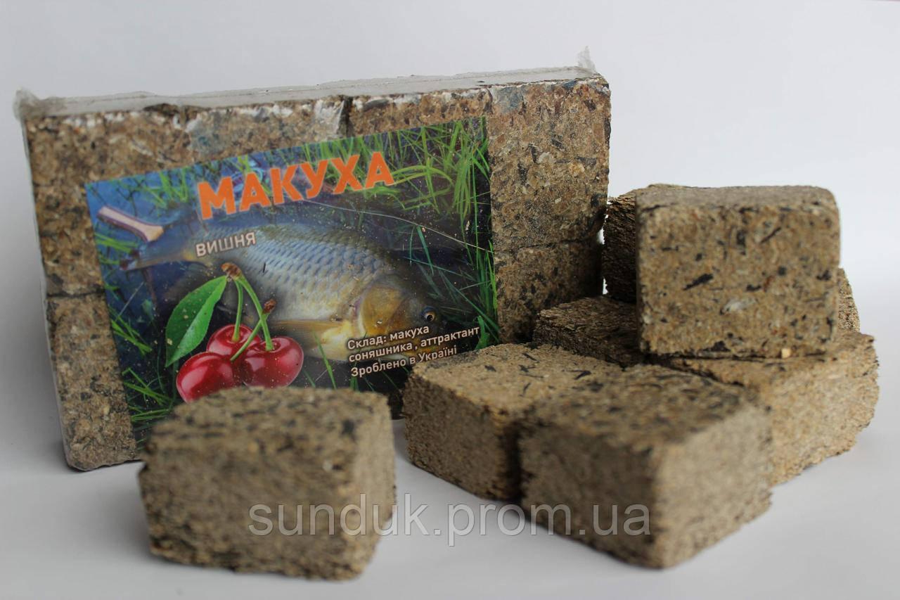 Макуха подсолнечника ( брикеты 8шт ) вишня