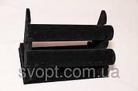 Чёрная подставка для украшений, 2 бочонка