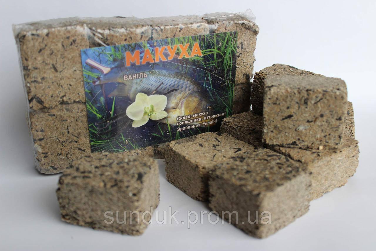 Макуха подсолнечника ( брикеты 8шт ) ваниль