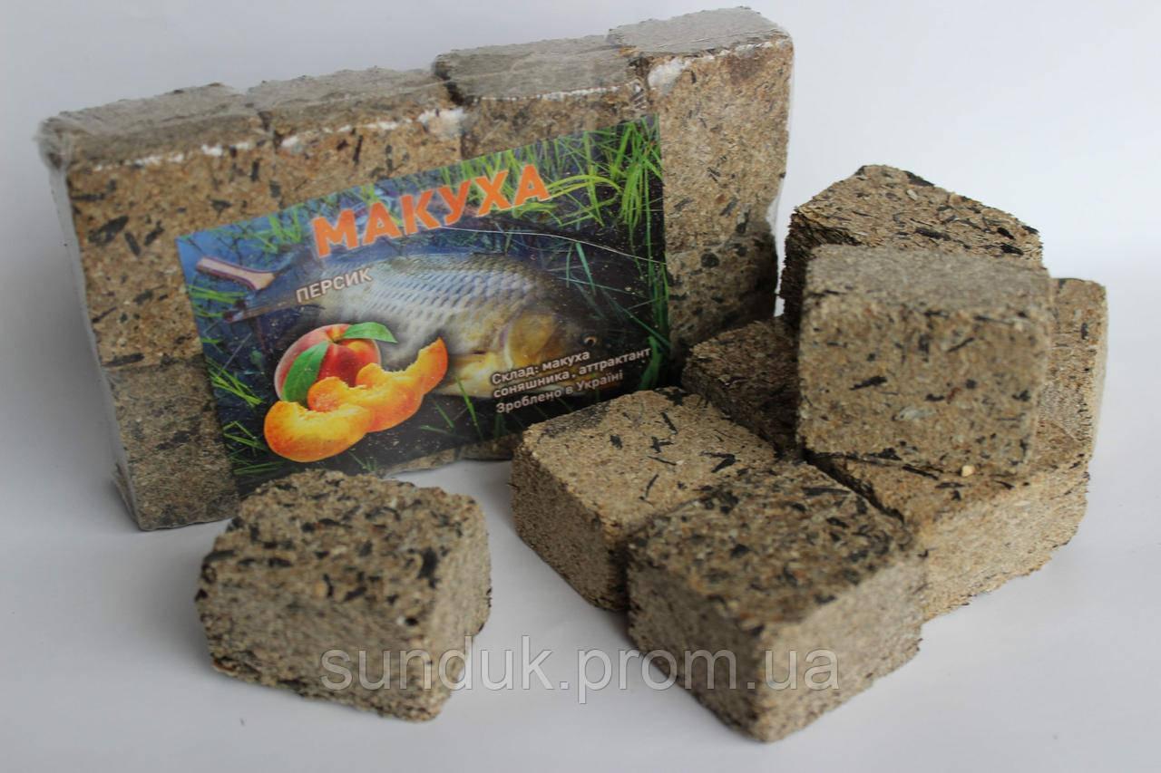 Макуха подсолнечника ( брикеты 8шт ) персик
