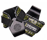 Крюки для тяги на запястья Power System Hooks V2 PS-3360 Black/Yellow L