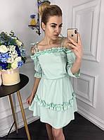 Платье женское на плечах регулируемые завязки р. 42 44 46 48, фото 1
