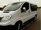 Накладки на зеркала заднего вида Renault Trafic 2001-2015, турецкая сталь, фото 3