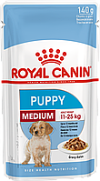 Паучи Royal Canin Medium Puppy 140г (в упаковці 12шт.)