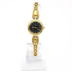 Часы QQ Золотистые, длина браслета 17-22 см, циферблат 22мм