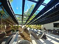 Раздвижная крыша из стекла