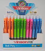 Ручка шариковая на кнопке с резиновым держателем 0,5 mm Inson синяя