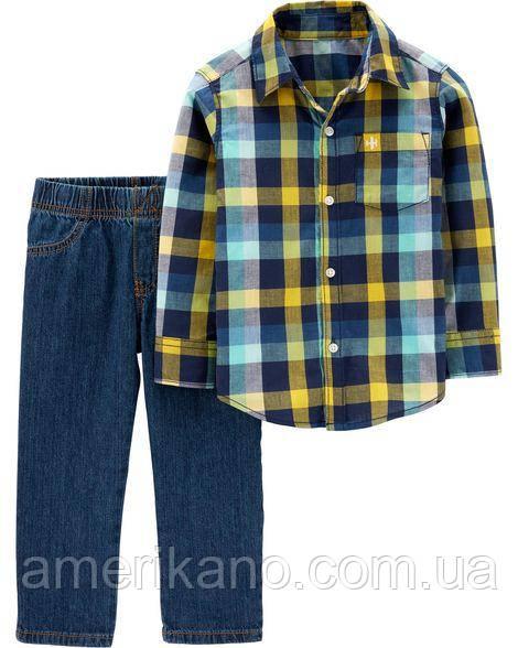 Костюм (рубашка + джинсы) Carter´s 3Т на 3года. Картерс из США. Стильно.