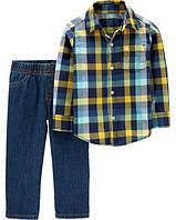 Костюм (рубашка + джинсы) Carter´s 3Т на 3года. Картерс из США. Стильно., фото 1