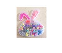 Набор детский для плетения из бисера в пластиковой коробке в форме ''зайчик''или ''яблоко'' или ''бабочка'' .