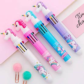 Ручка с головой единорога на 10 цветов