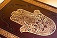 """Книга иллюстрированная в кожаном переплете """"Еврейские праздники в почтовых открытках"""", фото 3"""