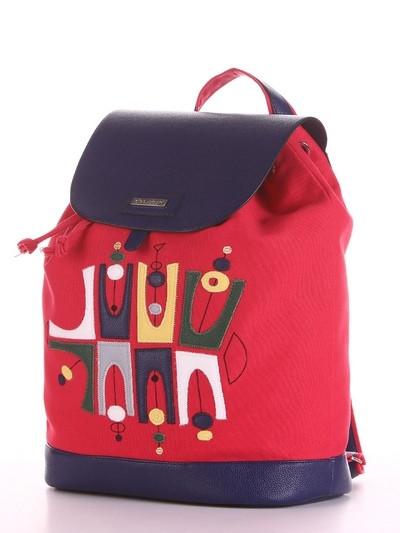 Молодежный рюкзак  с принтом красный