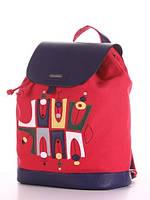 Молодежный рюкзак  с принтом красный, фото 1