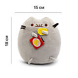 Мягкая игрушка Pusheen cat VOLRO с чипсами Gray (vol-69), фото 2