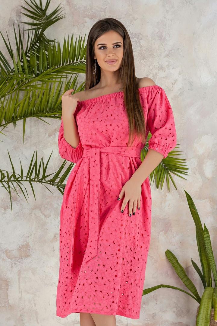 Платье женское длинное из батиста на подкладке (К27648)
