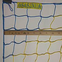 Сетка-гаситель для футзала, гандбола «СТАНДАРТ» желто-синий (комплект из 2 шт.)