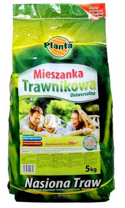 Газонная трава Mieszanka Trawnikowa Универсальная Planta 5 кг, фото 2