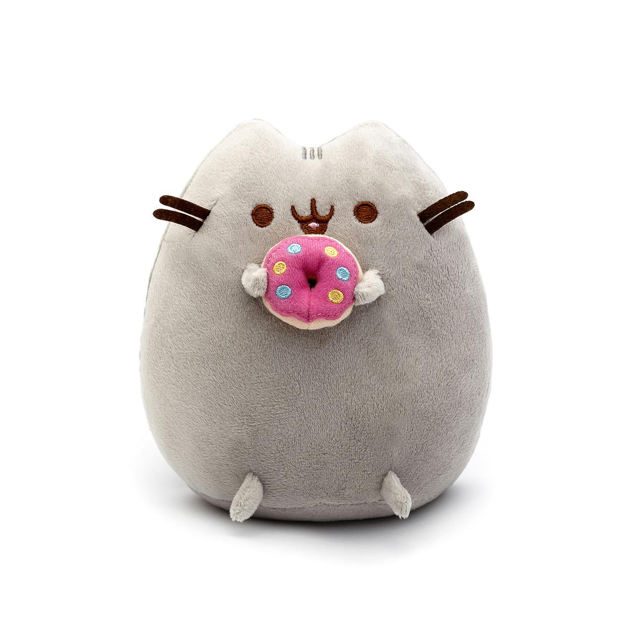 Мягкая игрушка Pusheen cat VOLRO с пончиком Gray (vol-71)