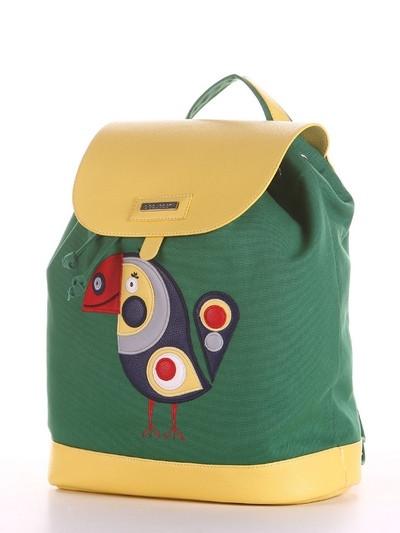 Молодежный рюкзак с принтом зеленый
