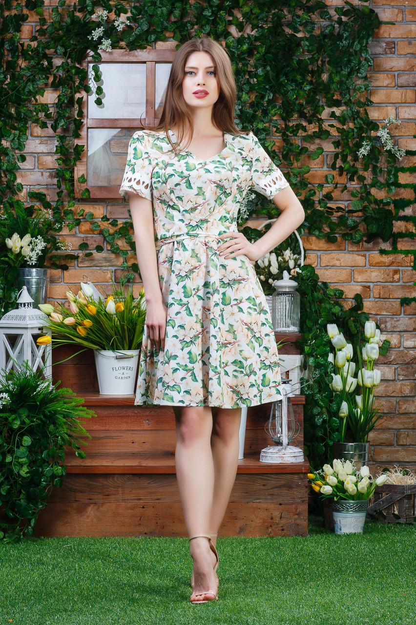 Воздушное платье цветы п-6362