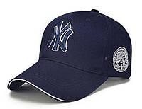 Бейсболки New York  Регулятор размера  застежка  Правильная стабильная форма кепки Уплотненный козырек Темно синій 100% коттон арт.9097