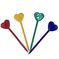 """Шпажки разноцветные для канапе и снеков """"Сердце"""""""