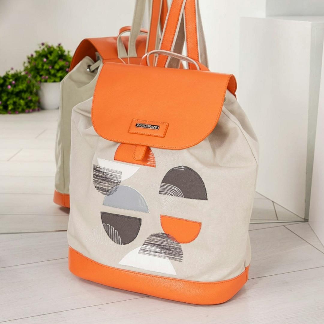 Молодежный рюкзак с принтом светло-серый