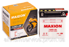 Аккумулятор мото MAXION 12N 5-3B (12V, 5A)
