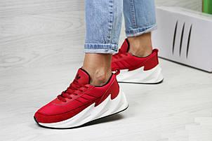 Подростковые,женские кроссовки Adidas Sharks,красные, фото 2