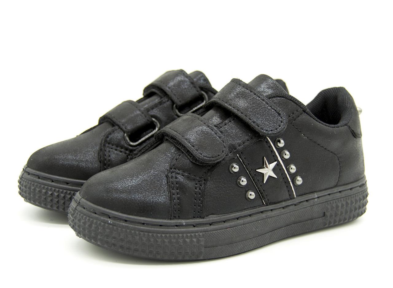 Кроссовки для девочки черные Размеры: 31, 32, 33, 34