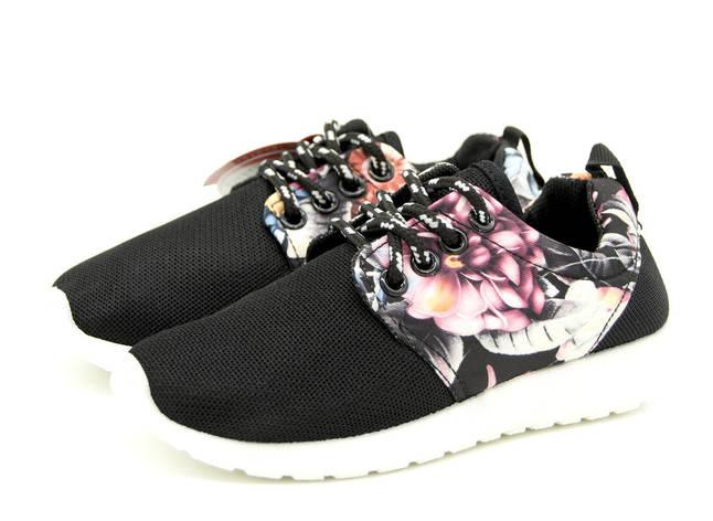 Кроссовки для девочки черные Размеры: 31,32,33,34,35,36 Кроссовки, девочка, 33 (20,5 cм), черный, фото 2