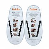 Силиконовые шнурки Coolnice В01 Black (vol-60), фото 2