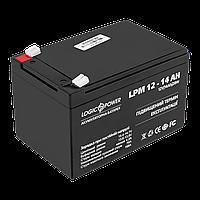 Аккумулятор кислотний AGM LogicPower LPM 12 - 14 AH, фото 1
