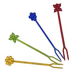 """Шпажки разноцветные для канапе и снеков """"Цветок"""""""