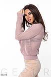 Легкий вязанный джемпер розовый, фото 2
