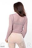 Легкий вязанный джемпер розовый, фото 3