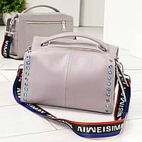 Модная женская сумочка лиловая