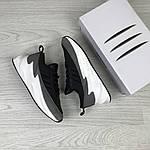 Жіночі кросівки Adidas Sharks (чорно-сірі, з білим), фото 3