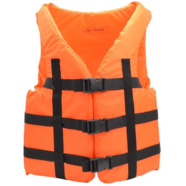 Жилет страховочный спастельный оранжевый 70-90 кг